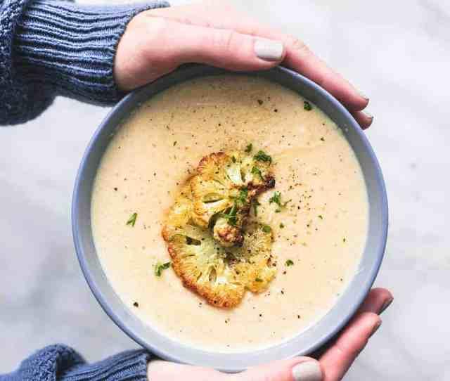 Easy And Tasty Roasted Cauliflower Soup Recipe Lecremedelacrumb Com