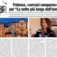 """POTENZA, «CERCASI COMPARSE» PER """"LA NOTTE PIÙ LUNGA DELL'ANNO"""""""