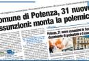 COMUNE DI POTENZA, 31 NUOVE ASSUNZIONI: MONTA LA POLEMICA