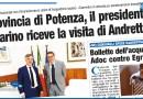 PROVINCIA DI POTENZA, IL PRESIDENTE GUARINO RICEVE LA VISITA DI ANDRETTA