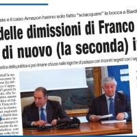 IL BLUFF DELLE DIMISSIONI DI FRANCO CUPPARO ECCOLO DI NUOVO (LA SECONDA) IN CARICA