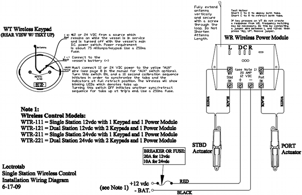 wiring diagram  wireless led control wtr series