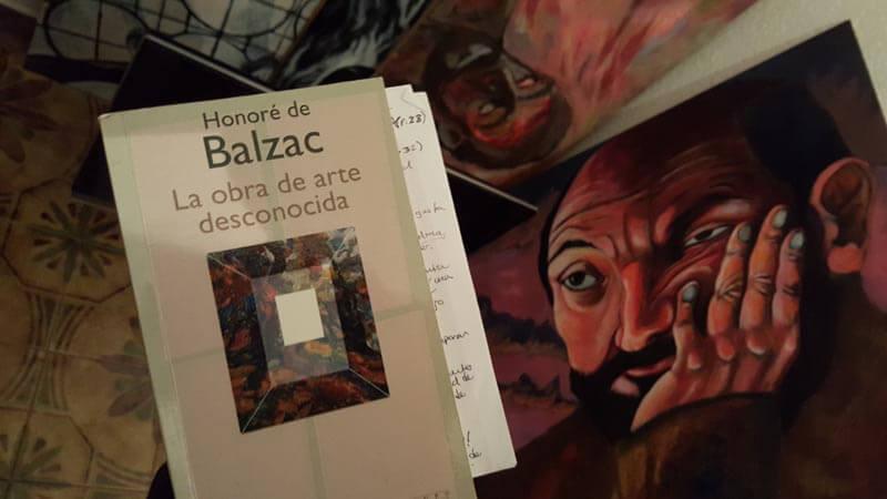 Un pie en la Obra de arte desconocida de Balzac