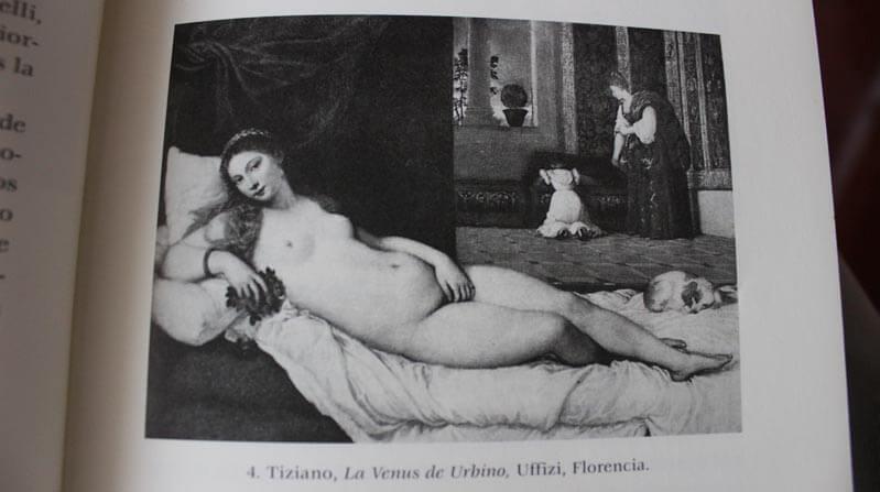 La venus de Urbino en el libro Una educación sensorial