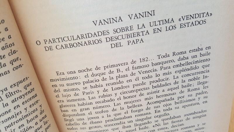La suerte de Vanina Vanini