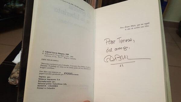 primera edición autografiada de El general en su laberinto