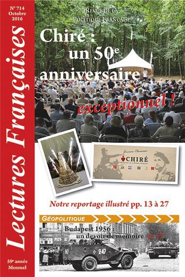 N° 714 – Octobre 2016 : Chiré : un 50ème anniversaire exceptionnel !
