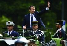 Macron lors de son investiture