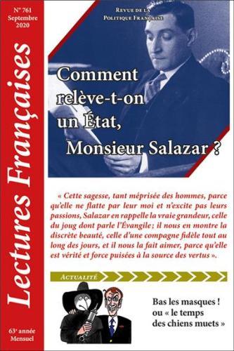 N° 761 – Septembre 2020 : Comment relève-t-on un État, Monsieur Salazar ?