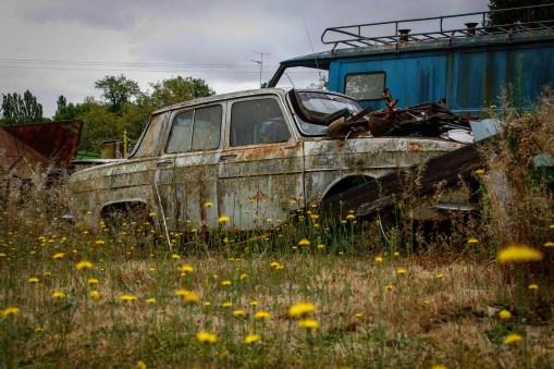 Cimetiere de voitures Renault 8