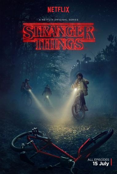 Stranger Things L'affiche officielle de Netflix