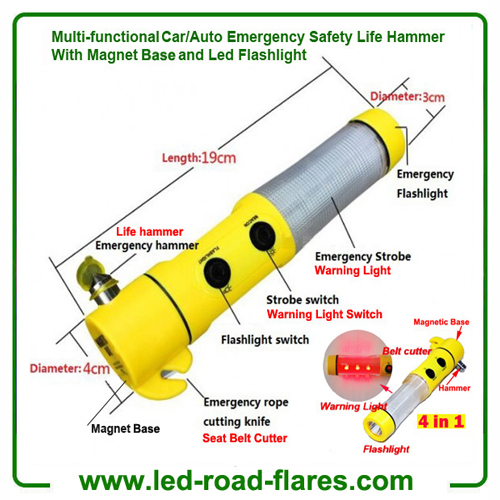 Led Safety Life Emergency Escape Hammer for Cars and Autos