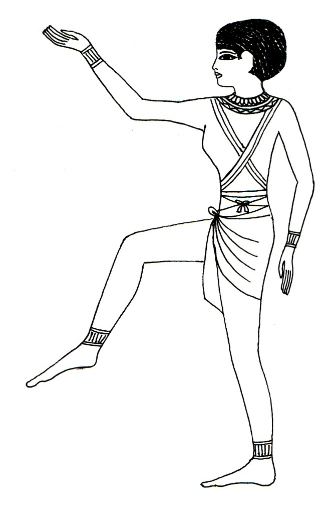 Immagine geroglifica del Salto Saidi dell'Antico Egitto