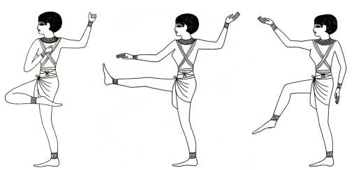 I Sacri Gesti delle Ibawt illustrano 3 determinativi della danza