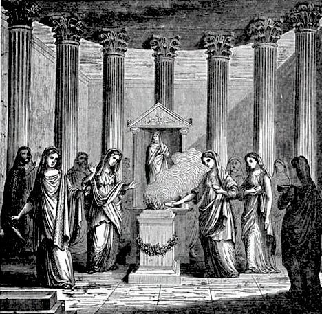 Vestali, nel tempio di Vesta
