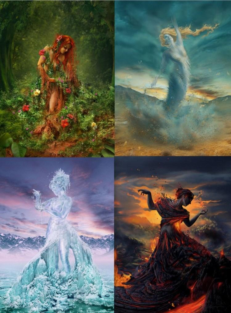 La Dea e i 4 Elementi