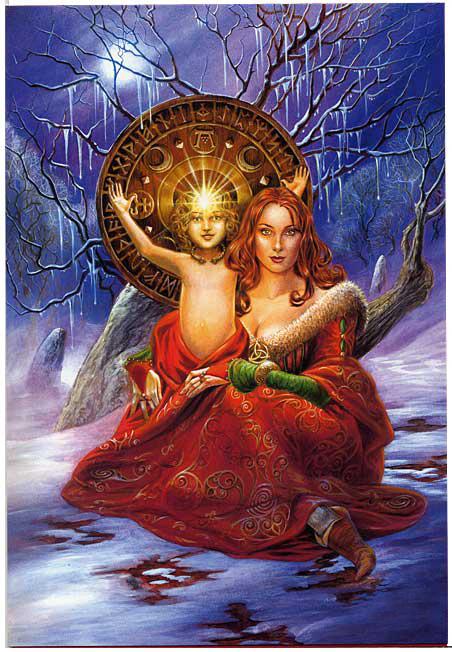 La Dea partorisce il Figlio divino