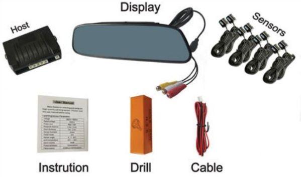 Senzori parcare fata spate cu 8 senzori si display in oglinda S502-8