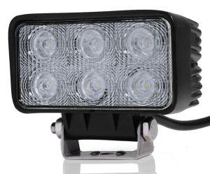Proiector LED 12v Auto Offroad 18W/12V-24V, 1320 Lumeni, DreptunghiularFlood Beam 60
