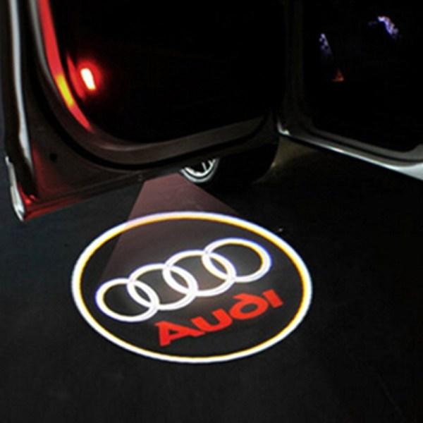 Led logo Audi A1, A4, A5, A6, A8, TT, R8, Q5, Q7 pentru portiere auto, montare sub usi fara modificari fizice la autoturismele Audi
