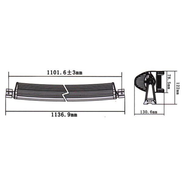 "LED Bar 4D Curbat 240W/12V-24V, 20400 Lumeni, 42""/106 cm, Combo Beam 12/60 Grade PREMIUM"