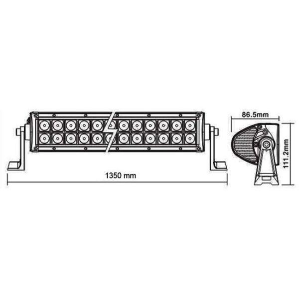 """LED Bar Auto Offroad 4D 300W/12V-24V, 21.980 Lumeni, 52""""/133 cm, Combo Beam 8/90 Grade PREMIUM"""
