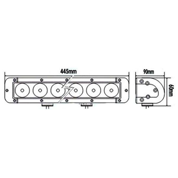 """LED Bar Auto Offroad 100W/12V-24V, 8500 Lumeni, 17""""/44 cm, Combo Beam 12/60 Grade PREMIUM"""