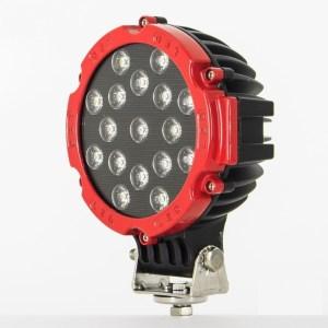 Proiector LED Auto Offroad 51W/12V-24V, 3740 Lumeni, Rosu, Flood Beam 60 Grade PREMIUM