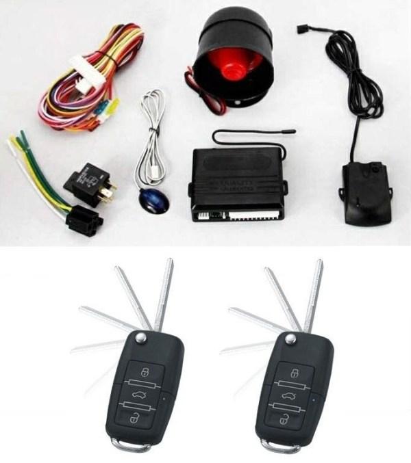 Alarma auto K119 cu 2 telecomenzi cu cheie briceag Tip VW PREMIUM