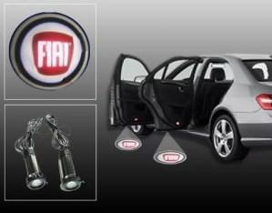 Proiectoare Portiere cu Logo Fiat PREMIUM