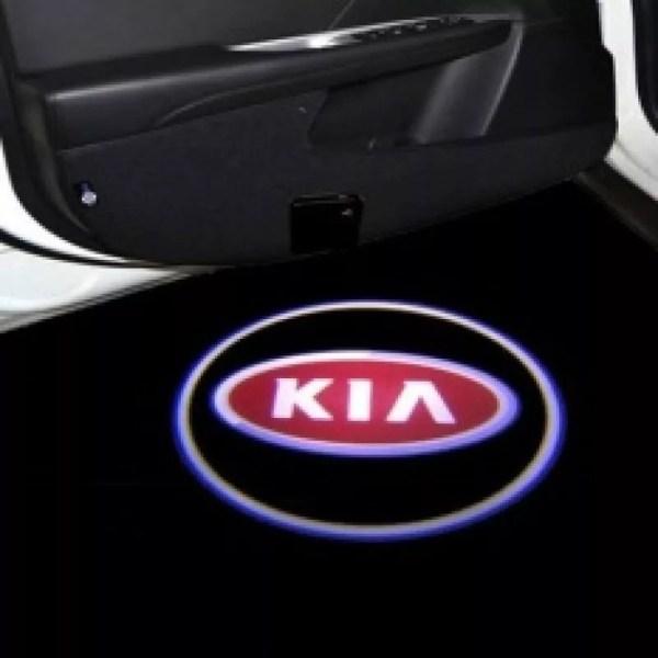 Proiectoare Portiere cu Logo KIA PREMIUM