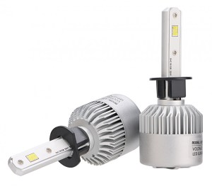Bec H1 Led CSP Canbus pentru far auto putere 72W lumină 16000 Lumeni