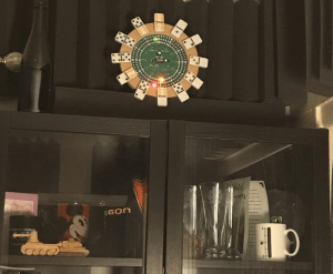 Joel M's Clock - made with dominoes!