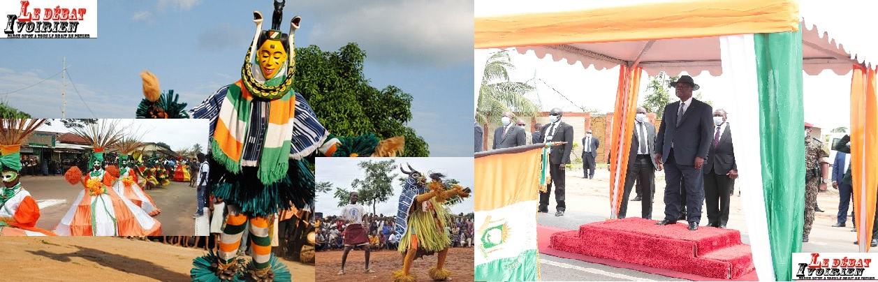 Visite d'Etat d'Alassane Ouattara dabns la Marahoué LEDEBATIVOIRIEN.NET