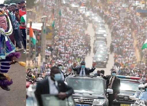 31ème visite d'État d'Alassane Ouattara la Marahoué LEDEBATIVOIRIEN.NET