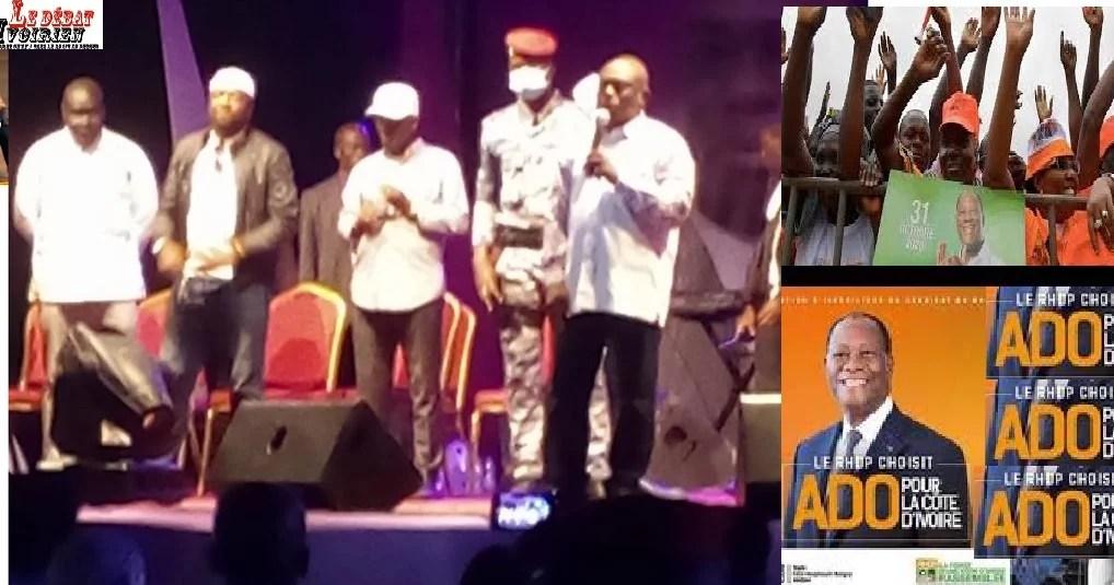 Alassane Ouattara et KKB en campagne LEDEBATIVOIRIEN.NET