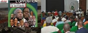 Meeting de l'opposition ivoirienne contre le 3è mandat de Ouattara LEDEBATIVOIRIEN.NET