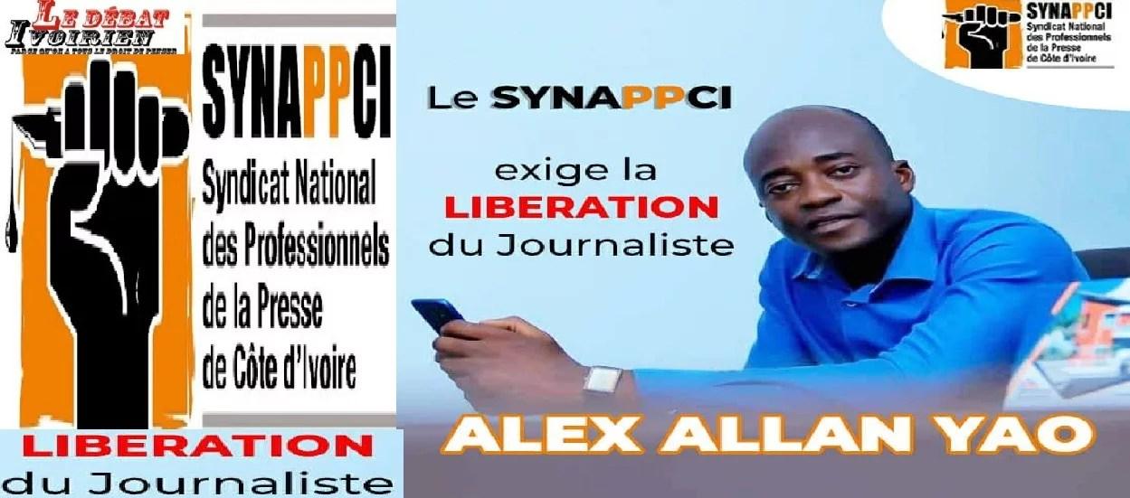 Abidjan- le SYNAPPCI dénonce la séquestration du journaliste, Alex Yao Hallan, dans l'exercice de ses fonctions LEDEBATIVOIRIEN.NET