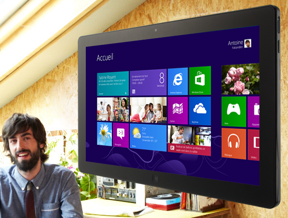 Lancement Windows 8 - homepage Microsoft