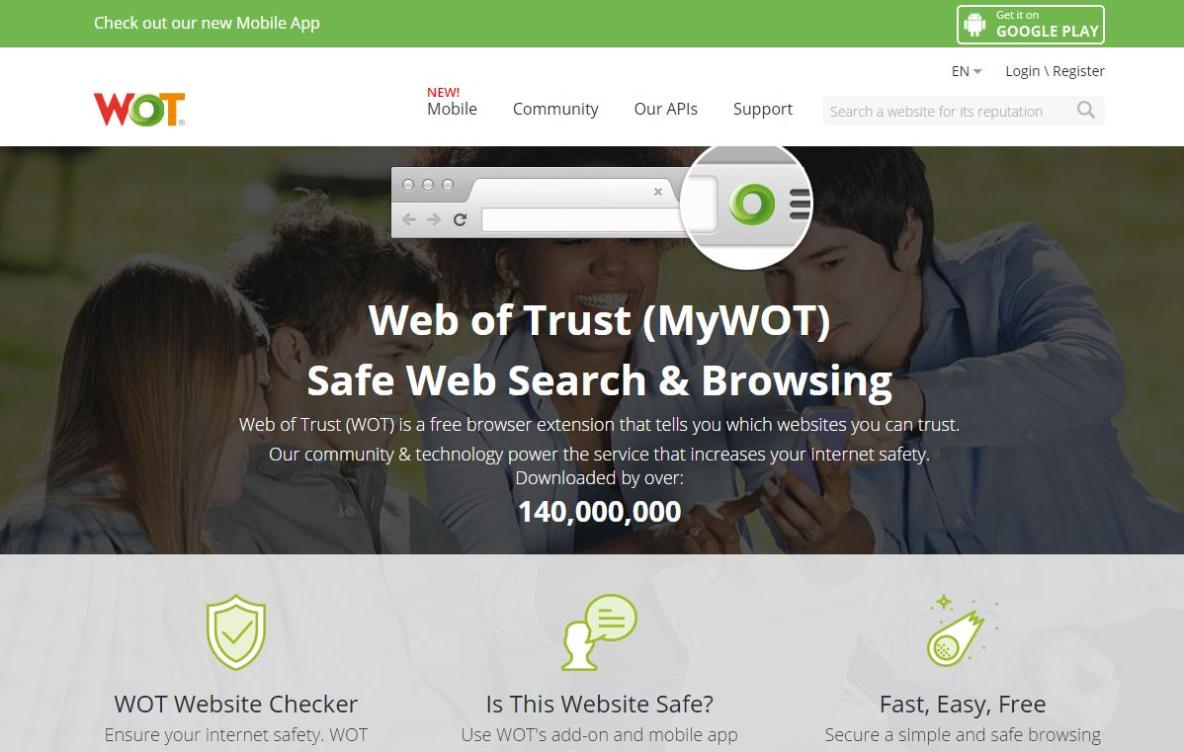Homepage Web of Trust - WOT