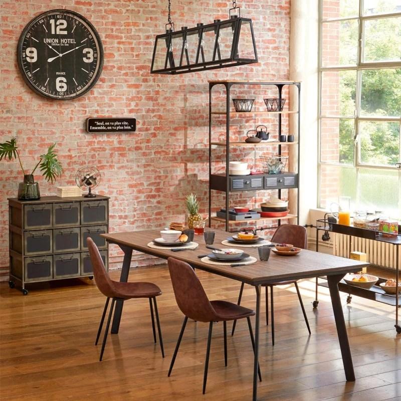 table salle manger 200 cm nissa bois massif atmosphera