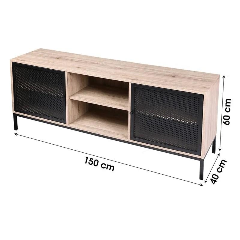 meuble tv 2 portes 2 niches soho
