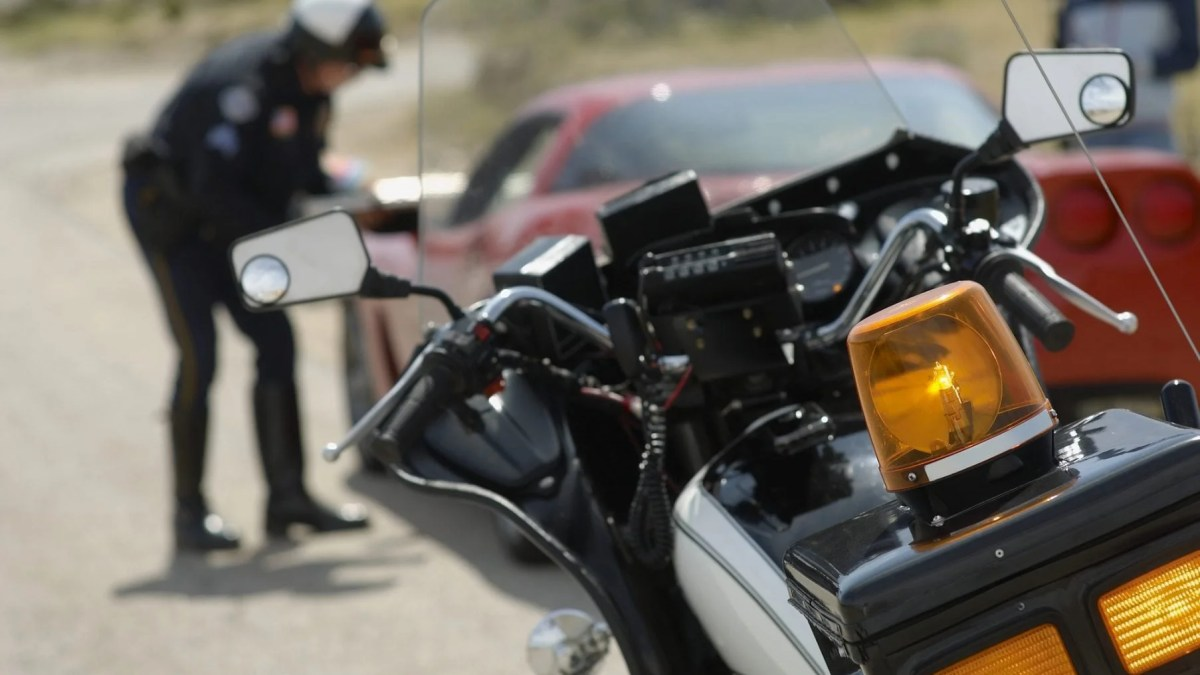 Closeup Of Siren On Motorbike