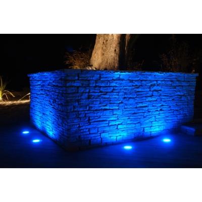 spot led gu10 5w encastrable au sol ip65 bleu
