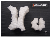 Image of the GrowGrip, used to provide physical support to plants in large-scale hydroponic systems
