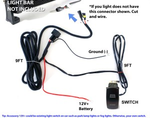 40A Fog Work LED Light Bar Wiring Harness Relay Fuse Kit