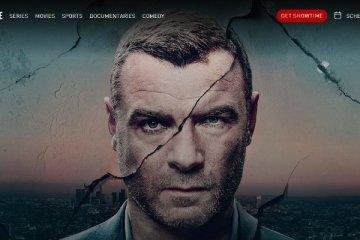 Page d'accueil du site web de la chaîne de télévision payante Showtime