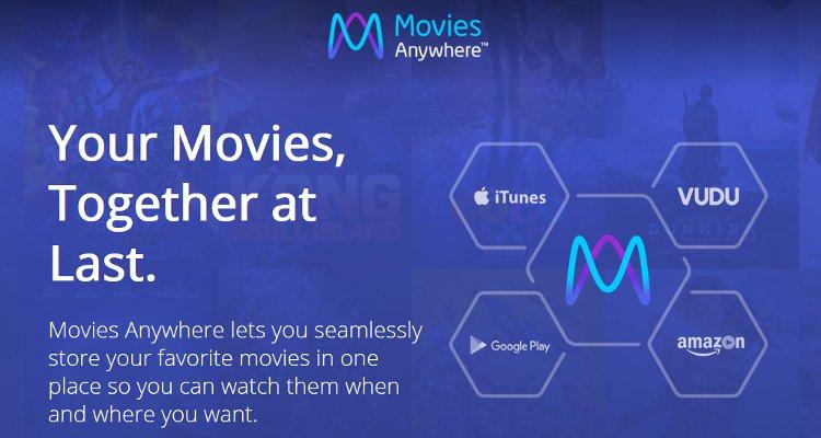 Service de bibliothèque numérique Disney Movies Anywhere