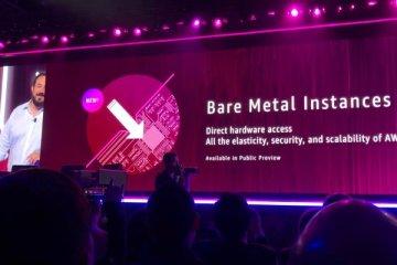 Présentation des nouvelles instances métal nu lors de l'AWS reInvent 2017