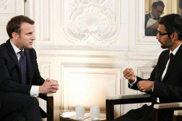 Rencontre du Président Emmanuel Macron et de Sundar Pichai, CEO de Google